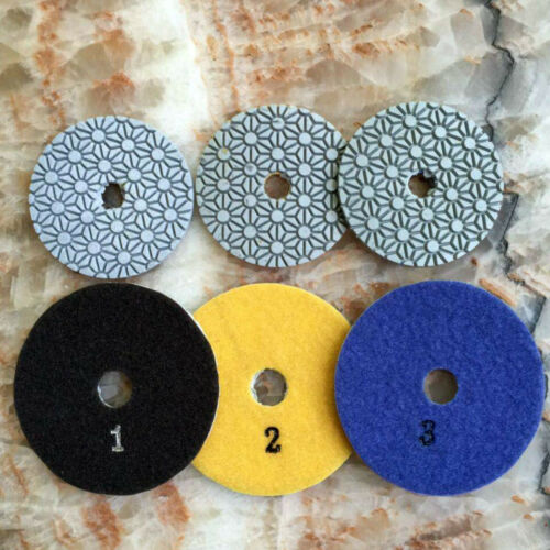 4 Inch 3 Step Dry Flexible Diamond Polishing Pad Marble Granite Stone Concrete