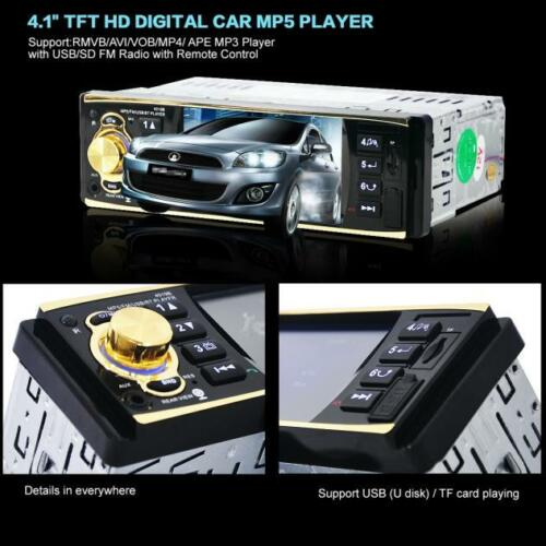 "1 DIN Car In-Dash 4.1"" Bluetooth Stereo Aux Input USB/SD/FM/MP5/BT Radio Player"