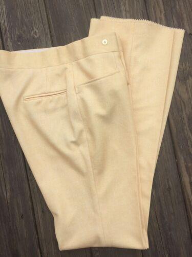 Vtg Di Fini Golf Pants Yellow flared 70's Polyeste