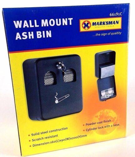 Marksman Wall Mounted Metal Ash Tray Brand New