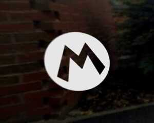 Details about MARIO M car vinyl decal vehicle bike graphic bumper sticker