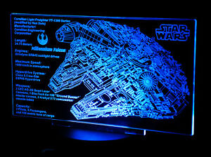 Custom-LED-Display-stand-PLAQUE-for-lego-75192-7965-75212-7190-Millennium-Falcon