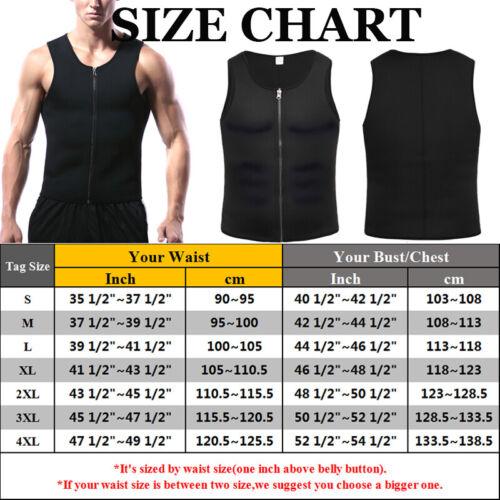 Men Neoprene Sauna Body Shaper Suit Hot Sweat Zipper Top Gym Fitness Jacket Vest