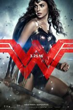 Batman Vs Superman Dawn of Justice original DS movie poster 27x40 Wonder Woman