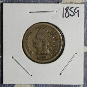 1859 INDIAN HEAD COPPER CENT COLLECTOR COIN, FREE SHIPPING