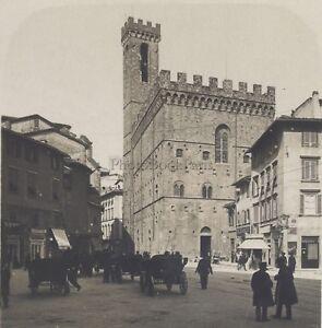 Florence Palais Bargello Italia Stereo Vintage Analogica Ca 1920