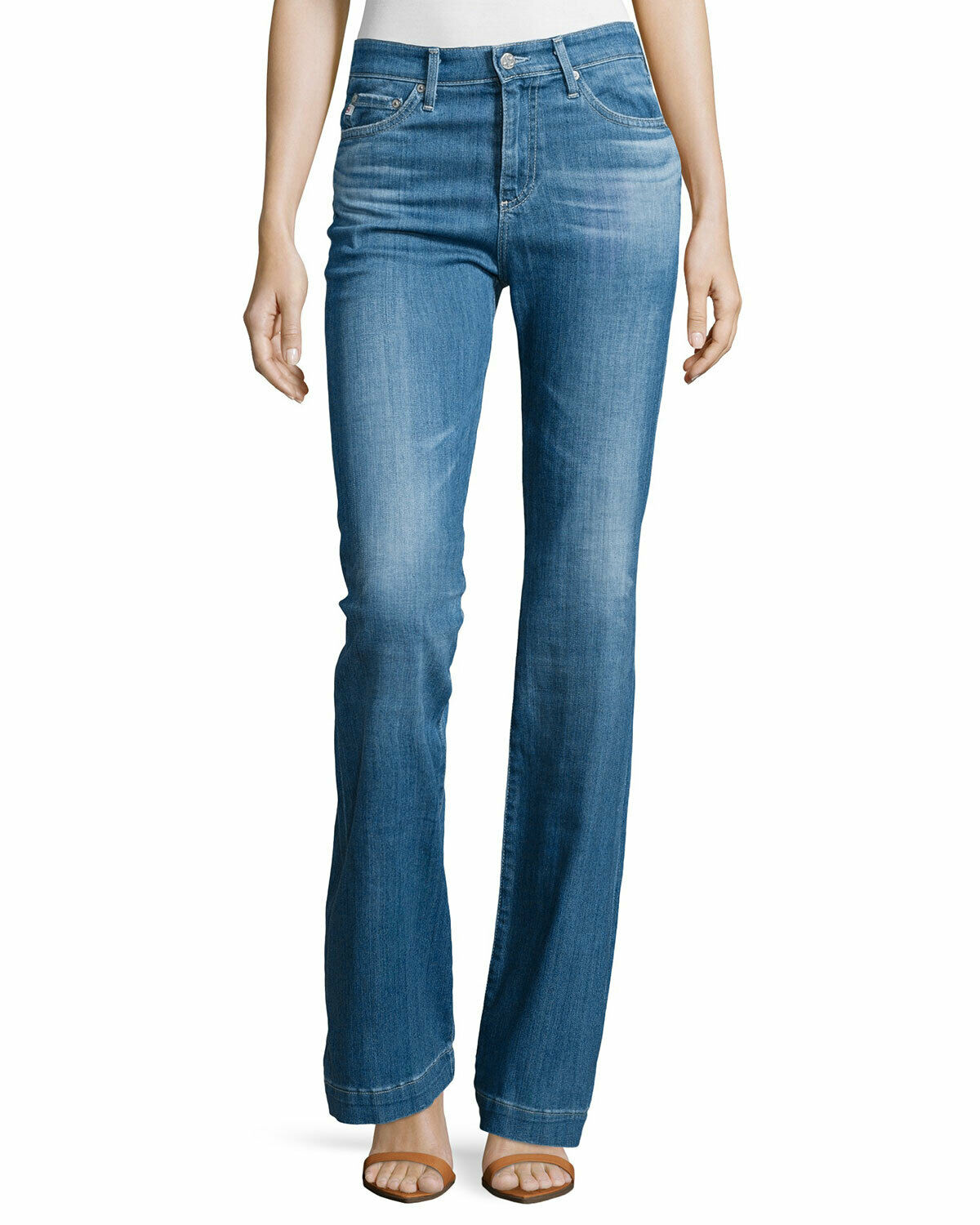 AG Adriano goldschmied Janis High Rise Flare Jeans 25 Years Classic US Size 24