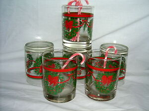 Christmas-Glasses-Chubby-6-in-sale-with-Candy-Cane-Stir-Sticks
