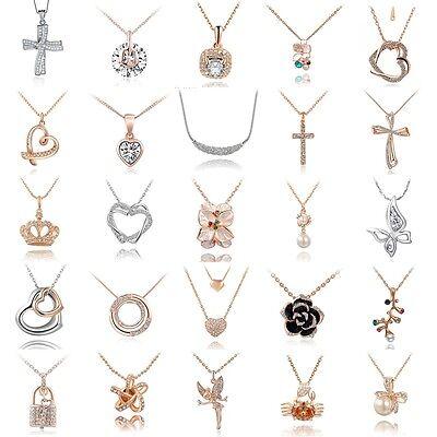 Fashion Jewelry Pendant Crystal Choker Chunky Statement Bib Chain Charm Necklace