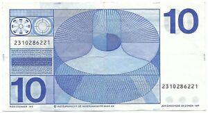 10 gulden 1968 Frans Hals met wigvormig snijteken zonder bullseye AV 37.1b