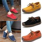 Women Genuine Leather Loafers Suede Flat Boat Shoes Moccasin Shoes US SZ 6.5-9