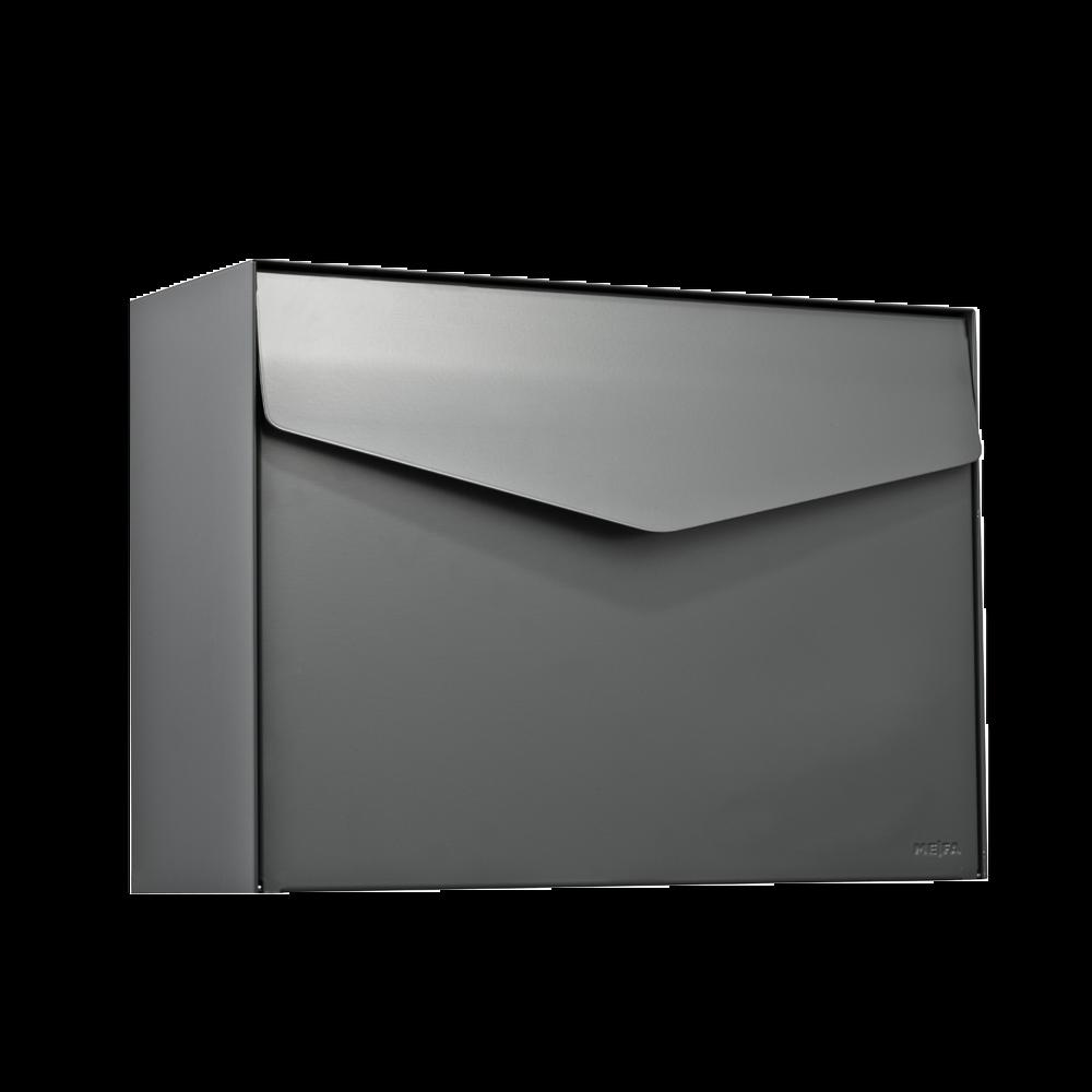 MEFA Briefkasten Letter (111) Basaltgrau Semi-Matt RAL 7012 Wandbriefkasten