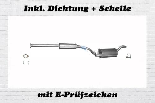 Mazda 3 1.4 1.6 Mittelschalldämpfer Auspuff Mitteltopf Bj.03-09 Dichtung Schelle