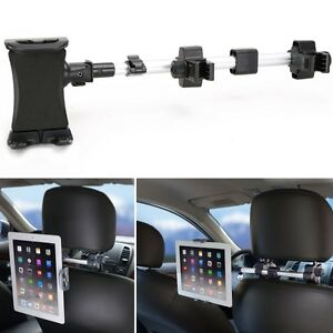 Rotatable Clip Mount Auto Seat Headrest Holder For Ipad Air 2 3 4 Tablet Pc Car