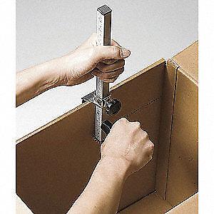 Silver GRAINGER APPROVED Carton Box Sizer,Silver,Steel//Plastic 5NWA5