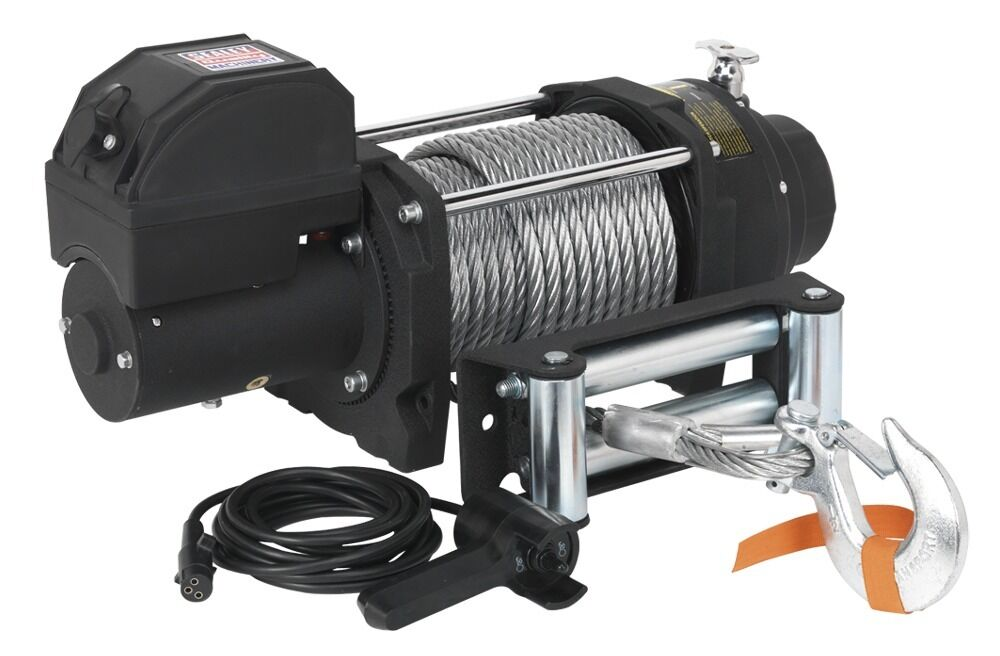 Sealey Recovery Winch 8180kg Line Pull 12V Industrial RW8180