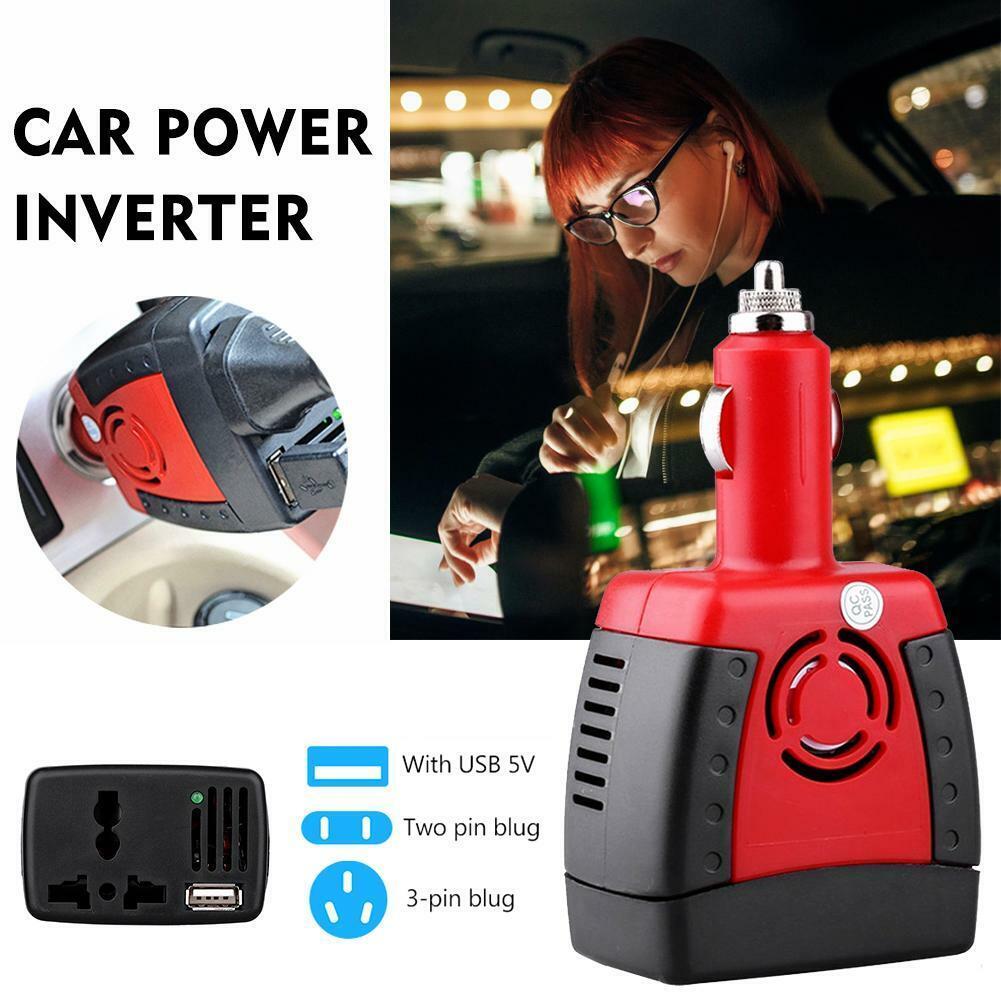 New 150W Car Power Inverter Charger Adapter 12V DC To 110//220V AC+USB 5V RA
