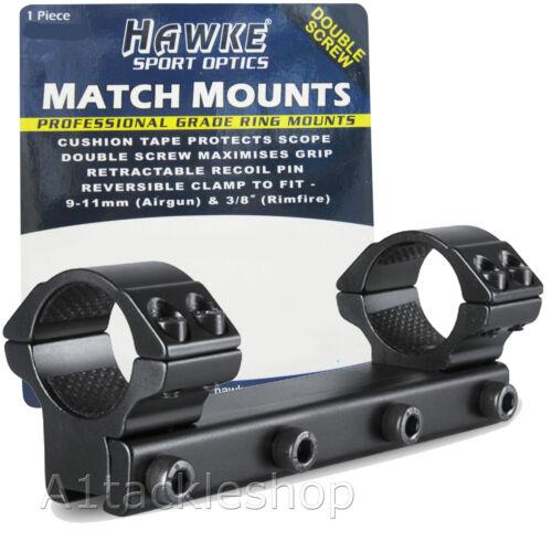 "Hawke One Piece 9-11 mm Rifle Scope Mounts-Choisissez 30 mm ou 1/"""