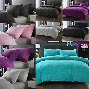 Teddy-Bear-Fleece-Duvet-Cover-Set-Pillow-Case-Sherpa-Thermal-Warm-Soft-Bedding