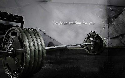 Framed Print - Weights on the Gym Floor (Picture Poster Art Bodybuilding Work)