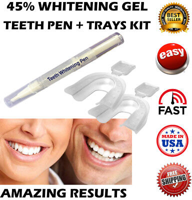 Teeth Whitening Pen 45 Peroxide 3d White Strong Gel Tooth