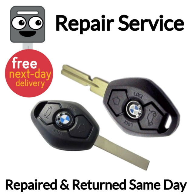 BMW Diamond 3 Button Key Fob Remote Repair Service + Rechargeable Battery
