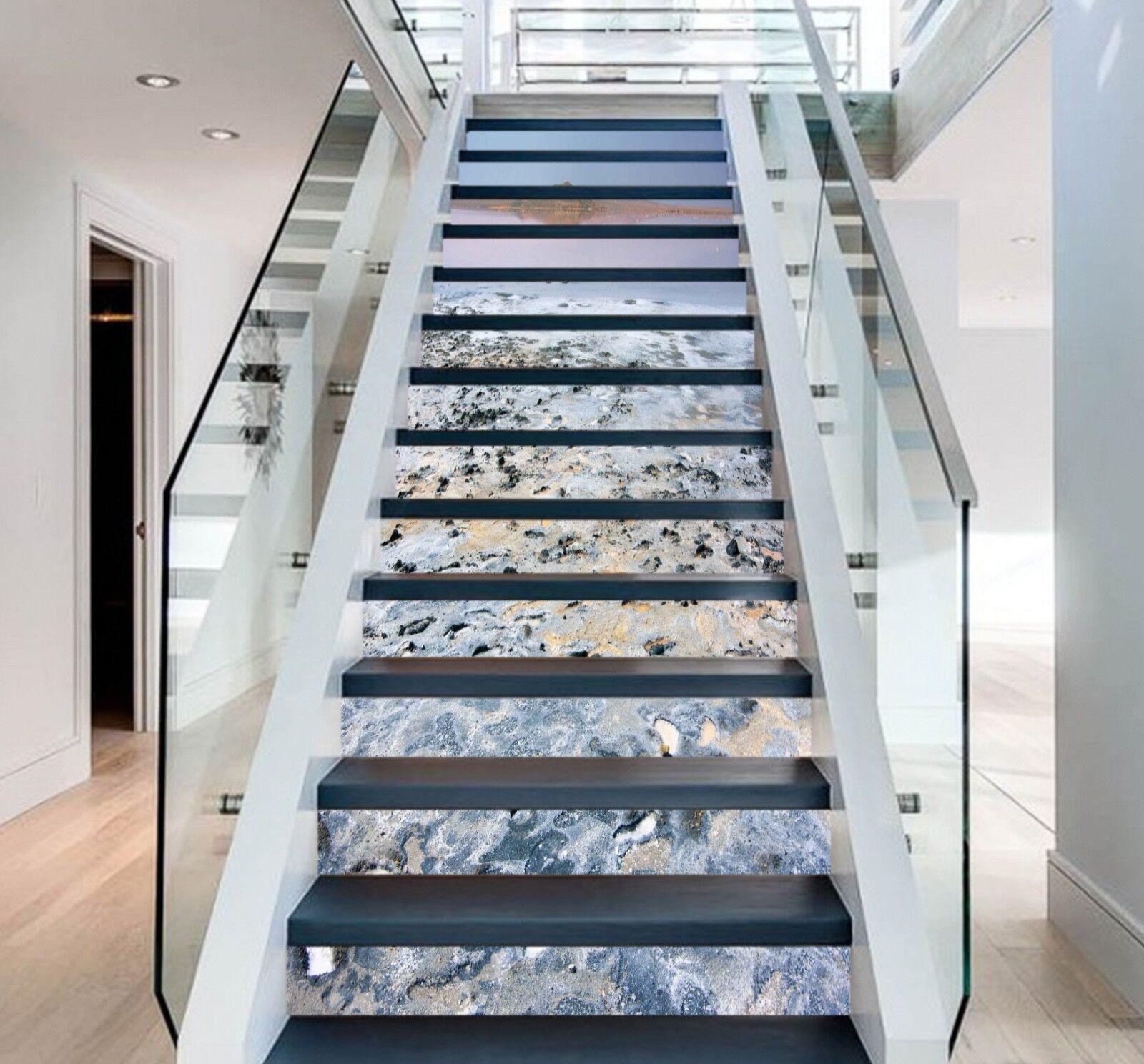 3D Snow sky 352 Stair Risers Decoration Photo Mural Vinyl Decal Wallpaper UK