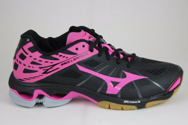 9a489f54c352b Mizuno Women's Wave Lightning Z Woms Bk-pk Volleyball Shoe Black/pink 10 D  US