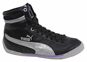 Puma 2.9 donna con lacci nero argento media altezza scarpe sportive 303407 03