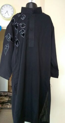 Style/'z lavare e indossare Ragazzi Kurta Shalwar Nero Eid Festa Matrimonio o Casual Wear
