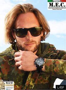 Orologio-Cronografo-Uomo-Militare-Subacqueo-Acciaio-Quarzo-Scatola-Garanzia-New