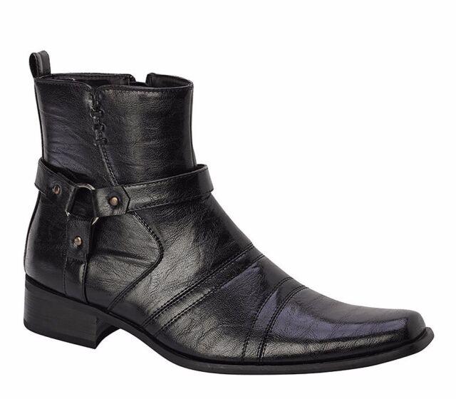 Men's Dress Boots Bonafini   Italian Style With Zipper (Black)   D 700