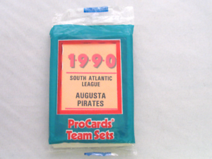 1990 ProCards Augusta Pirates Minor League Complete UNOPENED Team Set