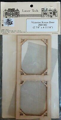 Dollhouse miniature screen door 1:12 scale
