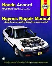 90 91 92 93 Accord Repair Manual  NEW owners book Service Shop