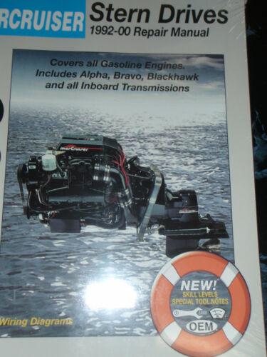SERVICE MANUAL MERCRUISER STERNDRIVES INBOARDS ENGINES 1992-2000  230 3206