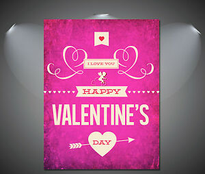 A2 A4 Sizes Valentines Day Love Gift Vintage Art Deco Poster A3 A1