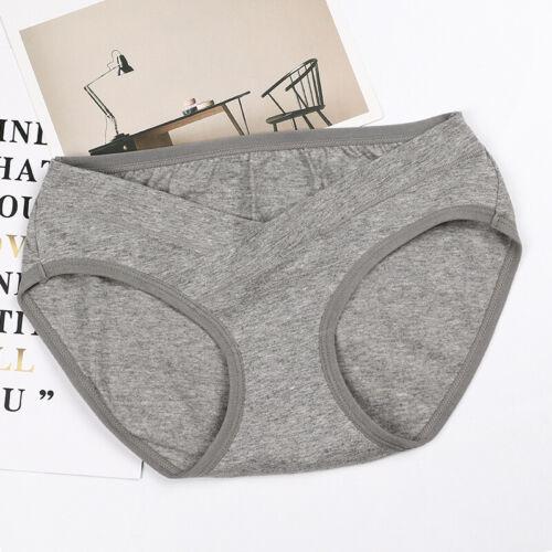Women Pregnant Maternity Panties High-waist Briefs Underwear Solid Underwear