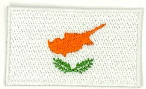 us seller small Cyprus country FLAG sew or Iron On Patch 1661