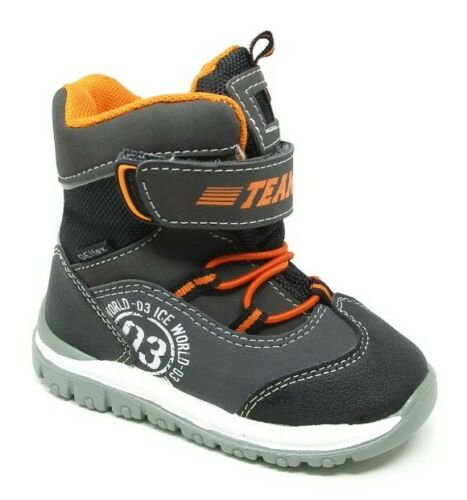 Boys Girls Infants Grey Waterproof Winter Ski Mucker Snow Boots Sizes
