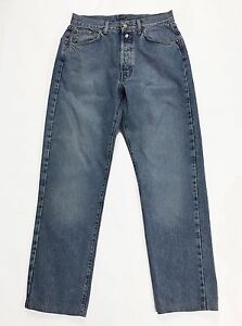Replay-jeans-w33-tg-47-gamba-dritta-boyfriend-blu-azzurro-vintage-usato-man-T237