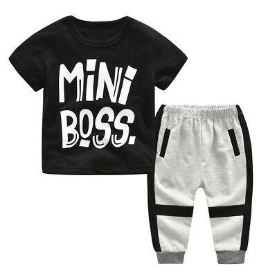Fashion Kids Baby Boy T-shirt Tops+Camo Shorts Pants Outfits Toddler Clothes UK