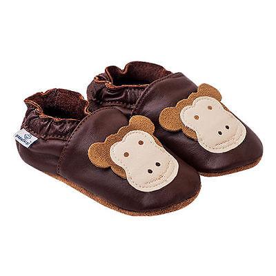 Bebé Niños Niñas Zapatillas de Cuero Suave antibacteriano natural Vivero Pram Zapatos
