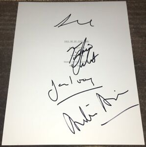 Timothee Chalamet 3 Signed Autograph Call Me By Your Name Script W