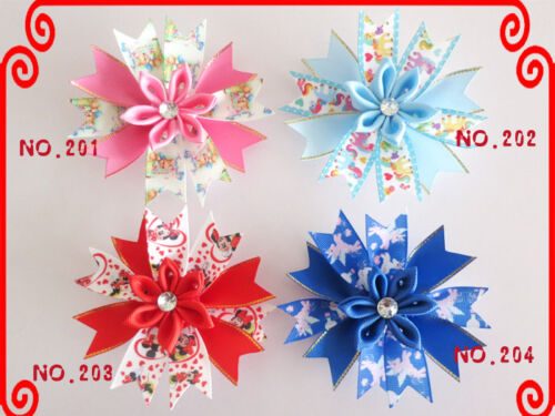 """50 Good Girl Baby 4.5/"""" Butterfly Fairy Wing Hair Bow Clip Spring Easter 208 No."""