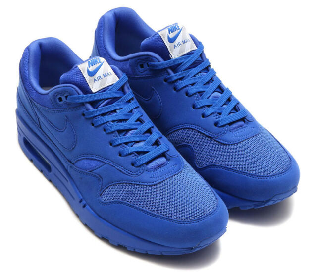 Nike Air Max 1 Premium Sneakers Game Royal Blue 875844 Size 8.5