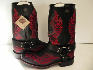 f725e15d8e18 Image is loading Mens-Harley-Davidson-boots-Slayton-D93141-leather-black-