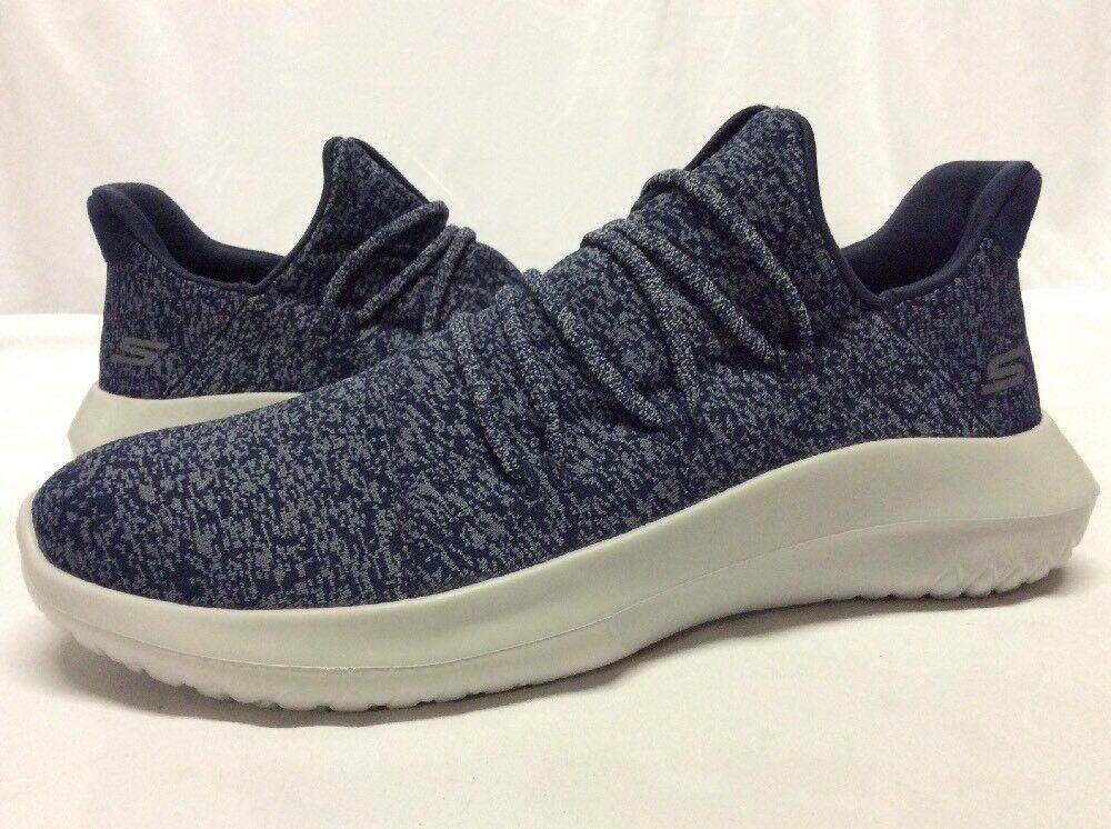 SKECHERS ONE BY SKEC thletic Shoes Men's, Navy/Gray , Comfortable New shoes for men and women, limited time discount
