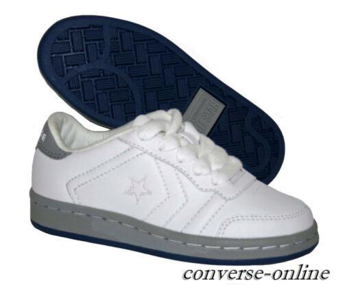 En Converse Baskets Star Uk Blanc Cuir Gris Taille Filles Chaussures Garçons All Enfants Iz0AZA