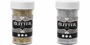 Glitter-etincelle-Argent-Or-Pour-Torchage-Autocollant-Carte-Decoration-de-Noel-Craft